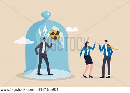 Toxic Boss, Bad Environment In Workplace, Unfairness, Micromanage Or Mislead Manager Concept, Angry