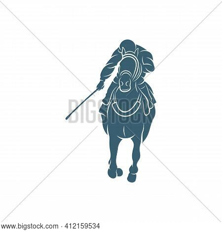 Horse Racing Design Vector Illustration, Creative Horse Race Logo Design Concepts Template, Icon Sym