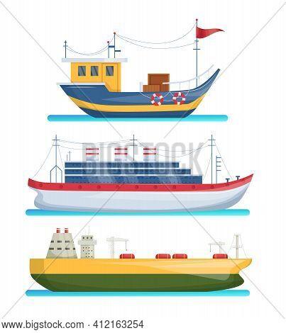 Maritime Ships At Sea, Shipping Boats, Cargo Cruise Ship, Steamship, Vessel, Battleship, Tanker. Wat