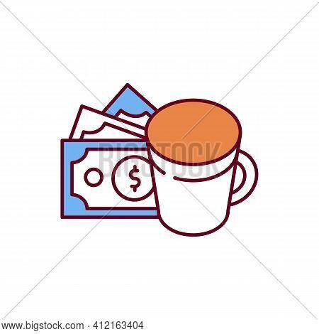 Caffeine Dependence Rgb Color Icon. Increasing Brain Activity. Alertness, Wakefulness Improvement. O