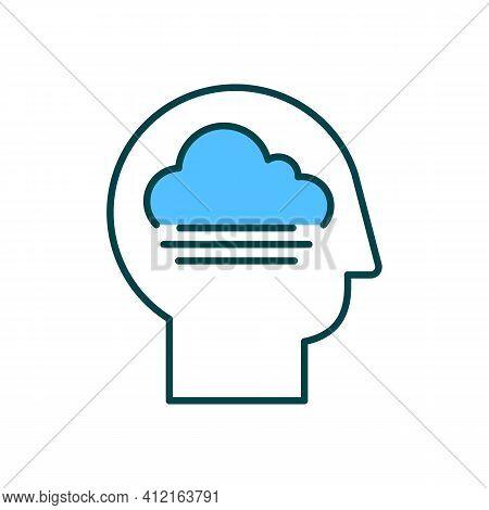 Impaired Consciousness Rgb Color Icon. Brain Damage. Memory Loss. Disorientation, Confusion. Hard Ti
