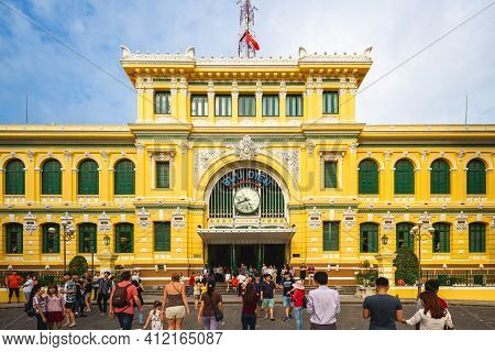 December 30, 2016: Saigon Central Post Office. It Was Constructed When Vietnam Was Part Of French In