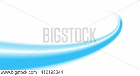 Light Blue Wave Line Modern For Creative Graphic Design, Blue Abstract Composition Curve Background,