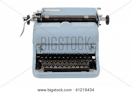 Retro Typewriter On White Background
