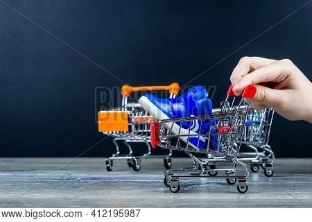 Shopping Trip With A Grocery Cart