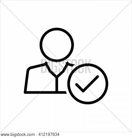 Black Line Icon For Attendance Presence Appearance Checking Being-there Impendence