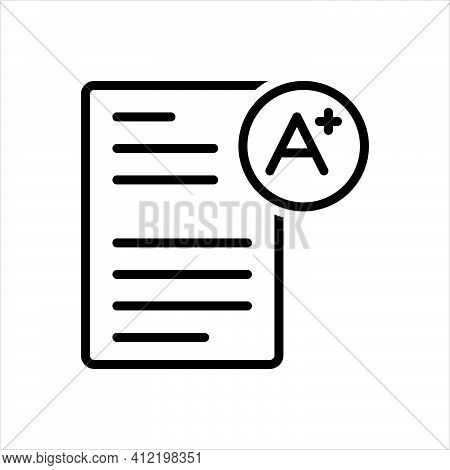 Black Line Icon For Qualification Merit Ability Eligibility Talent Aptitude Achievement Degree