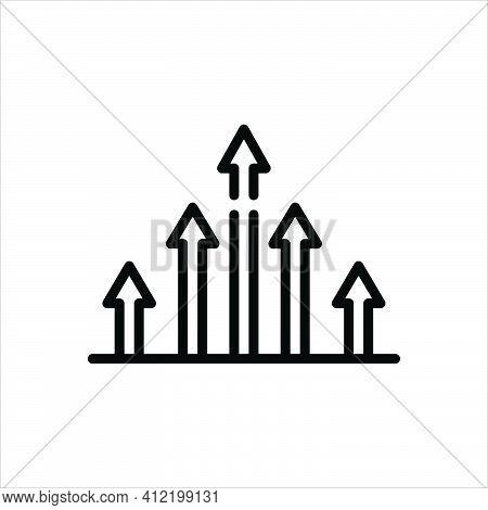 Black Line Icon For Benchmark Standard Measure Market Analytics Growth