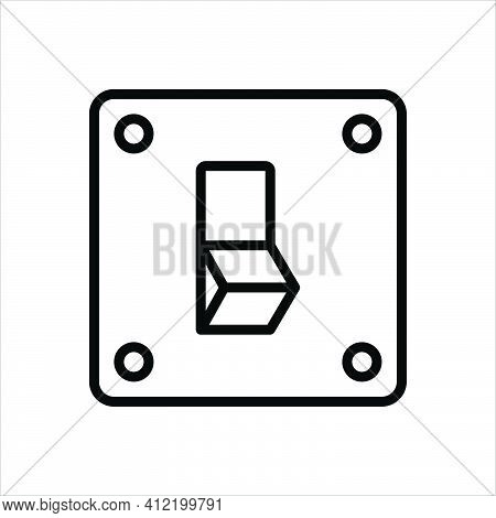 Black Line Icon For Off Switch Electrical Power Electronic On Toggle