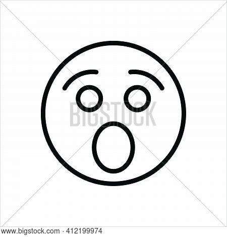 Black Line Icon For Shock Jerk Surprise Fear Afraid Scared Expression