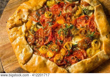 Homemade Savory Tomato Galette Pastry