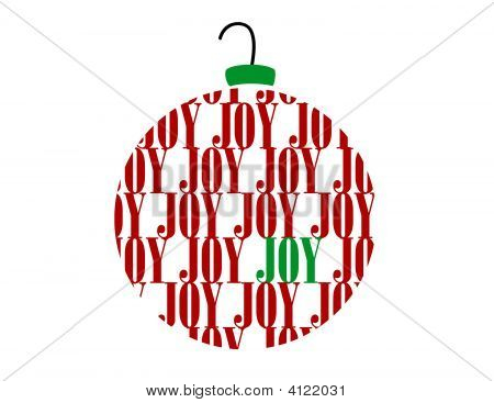 Merry Christmas Joy Word Ornament Ball