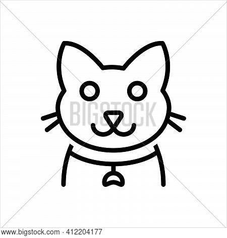 Black Line Icon For Cats Halloween Carnivore Animal Creature Domestic Kitten
