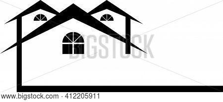 Housing Logo With Peaks Real Estate Design
