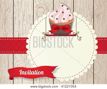 Stylish cupcake invitation