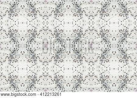 Pitahaya Dragon Fruit Pulp. Seamless Pattern Photography With Geometric Rhythm. Background Of Fresh