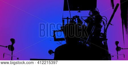 Video Production Behind The Scenes Or The Making Of Movie In Silhouette