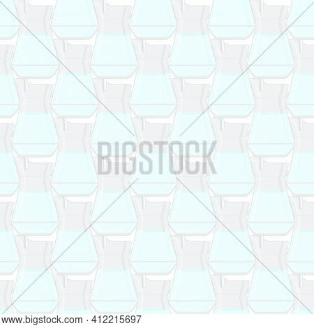 Illustration On Theme Colored Set Identical Types Glass Jugs For Drinking Water. Water Pattern Consi