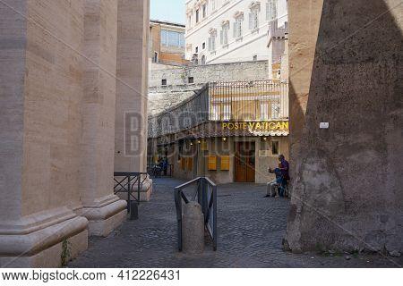 Vatican - July 15, 2017: The Post Office Of Vatican.