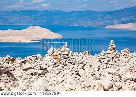 rugged landscape on the island of Rab  Croatia