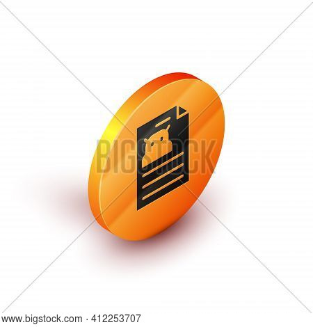 Isometric Technical Specification Icon Isolated On White Background. Technical Support Check List, T