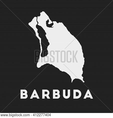Barbuda Icon. Island Map On Dark Background. Stylish Barbuda Map With Island Name. Vector Illustrati