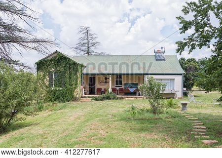 Bloemfontein, South Africa - February 27, 2021: View Of The Reception Office At Farm Windhoek, A Wor