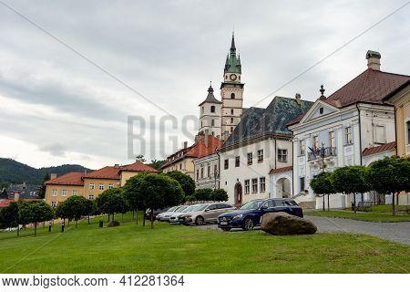 Kremnica, Slovakia - July 3, 2020: Kostol Sv. Katariny Alexandrijskej Church In Kremnica City, Slova