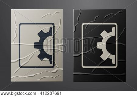 White Software, Web Development, Programming Concept Icon Isolated On Crumpled Paper Background. Pro