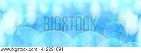 Delicate Blue Background. Abstract Delicate Blue Bokeh Background. Copy Space.