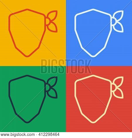 Pop Art Line Vandal Icon Isolated On Color Background. Vector
