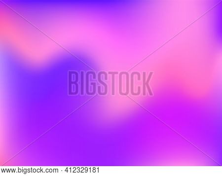 Bright Smooth Mesh Blurred Futuristic Pattern. Holographic Background.