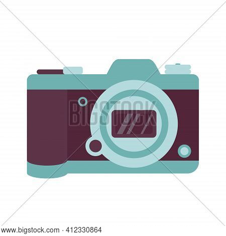 Photo Camera Icon. A Modern Fashion Accessory And Element For Photographing Beautiful Places. For Tr