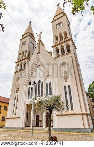 Towers Of A Catholic Church, Monte Belo Do Sul, Rio Grande Do Sul, Brazil