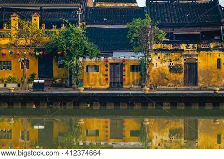 Tan Ky House, Merchant Heritage House In Hoi An, Vietnam. Translation: Tan Ky, The Name Of Whom Has