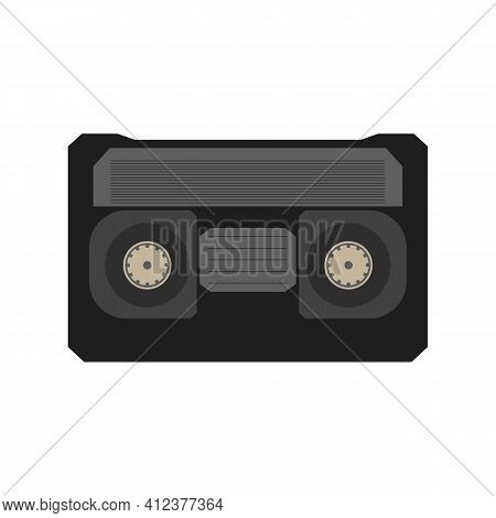 An Old Videotape For A Videotape Recorder. Vector
