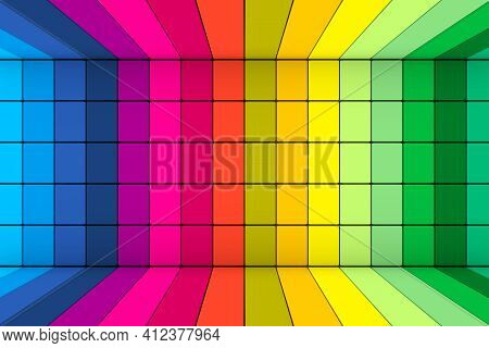Colorful Boxes Abstract Background 3d Render Illustration