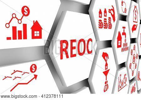 Reoc Concept Cell Background 3d Render Illustration