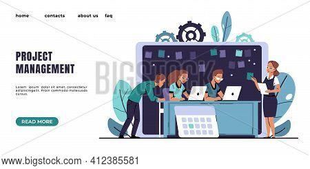 Agile Landing Page. Kanban Methodology Software Development. Effective Project Management. Brainstor