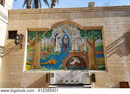 Cairo - Egypt - February 09, 2021: Old Beautiful Orthodox Church In Cairo. Christian Coptic Hanging