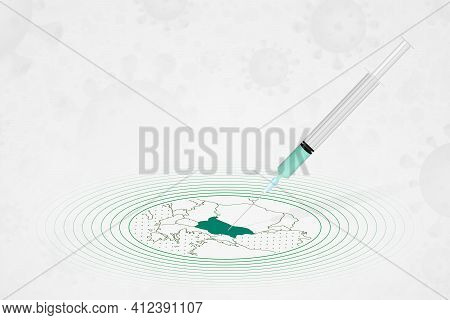 Bulgaria Vaccination Concept, Vaccine Injection In Map Of Bulgaria. Vaccine And Vaccination Against