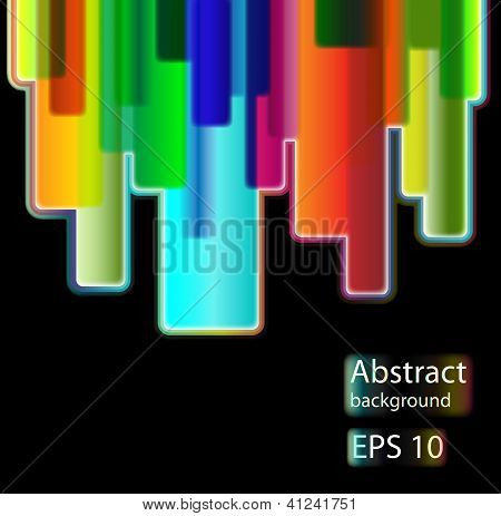 Colorful abstract background with stylized urban.