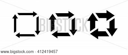 Set Of Repost Icon Vector Signs. Resend Symbol.