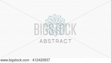 Abstract Polygonal Linear Logo Icon Sign. Modern Geometric Logotype Vector Design.