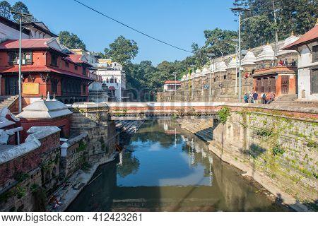 Kathmandu, Nepal : October-18-2018 : Pashupatinath Temple One Of The Most Sacred Hindu Temples Of Ne
