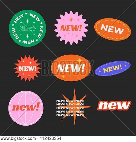 Stickers For New Arrival Shop Product Tags, New Labels Or Sale Badges And Banners Vector Sticker Ico