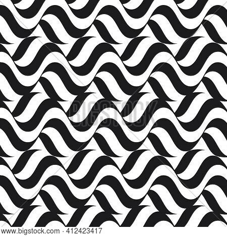 Geometric Striped Seamles Pattern. Modern Abstract Background.