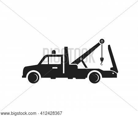 Tow Truck Vector Icon Logo Design
