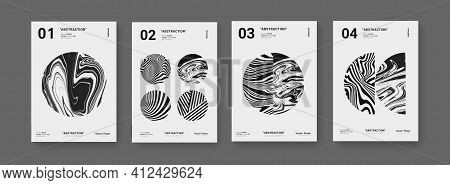 Set Of Abstract Geometric Monochrome Shapes. Modern Pattern. Futuristic Posters Collection.. Bauhaus