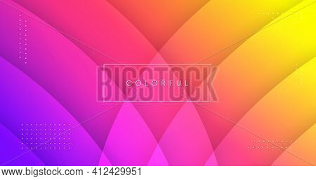 Abstract Colorful Geometric Background Vector Design. Rainbow Gradient Backdrop. Cool Pattern.